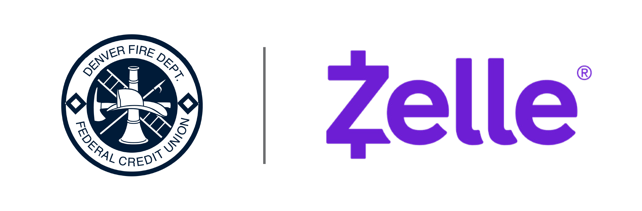 Zelle and DFDFCU Logo Lockup